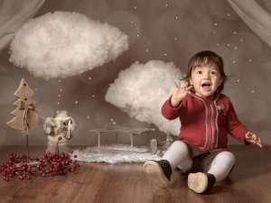 Il natale in un ritratto, i ritratti di bambini a Natale